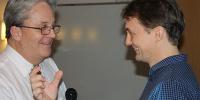 Kevin och Thomas på konferens 29